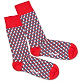 Dillysocks bunte Socken für Damen und Herren, Herrensocken in Premiumqualität aus Europa, Baumwollsocken Größe 41 - 46 (Stairs and Dice)