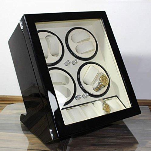 KY Uhrenbeweger Auto Watch Winder Luxus automatische Uhrenbeweger, Luxus Watch Winder Fällen 8 + 5 Leder