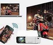 Projector Mini Portable LCD Video Projector 2600 Lumens 4K 3D 1080P HD Home Multimedia Cinema Projector IR USB