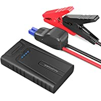 RAVPower Car Jump Starter 10000mAh 400A Peak with Intelligent Protection Device for up to 3L Gasoline Engines, Booster Battery Pack 2.4A Max iSmart 2.0 Output USB Ports, Built-In SOS LED Flashlight preiswert