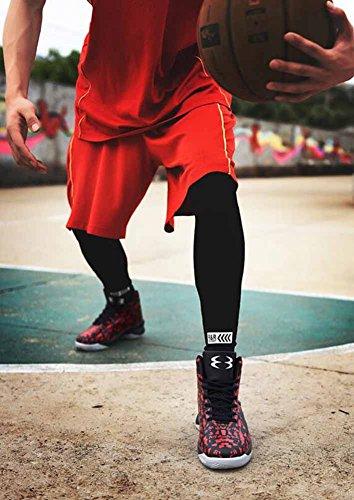 Uomini Traspirante Pallacanestro Scarpe Da Ginnastica Autunno Inverno Antiscivolo Atletico Scarpe All'aperto Camuffare In Esecuzione Scarpe Red