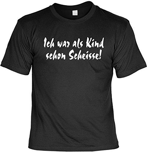 T-Shirt - Ich war als Kind schon Scheiße - lustiges Karneval Shirt ideal als Geschenk für (Alternative Sa Kostüme 2)