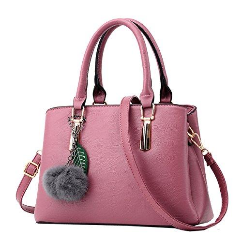 Borsa Yy.f Nuove Donne Di Arrivo Sacchetto Femminile Di Mezza Età Messenger Bag La Signora Sacchetti Di Spalla Di Modo Pratico Interno Multicolore Pink