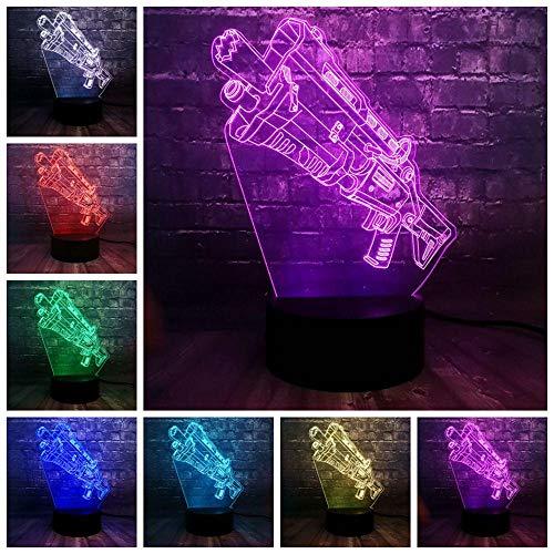 Zcmzcm 3D Nachtlichter Neue Acryl Illusion 3D 7 Farbe Usb Ladung Rgb Spiel Der Schlacht Prop Waffe Led Nacht Stimmung Licht Kindertag Spaß Geschenk Spielzeug
