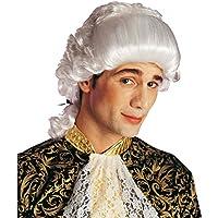 NET TOYS Parrucca bianca alla Mozart da uomo stile barocco rococò per  costume da Carnevale 4c20b6d100f1