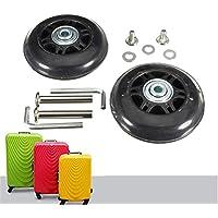 Negro Repuesto Equipaje/Inline Skate ruedas con exterior 608ZZ Rodamientos