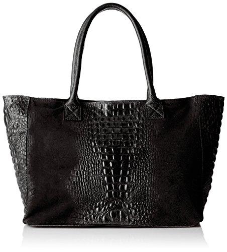 Chicca Borse Damen 80042 Shopper, 53x30x16 cm Schwarz (Nero)