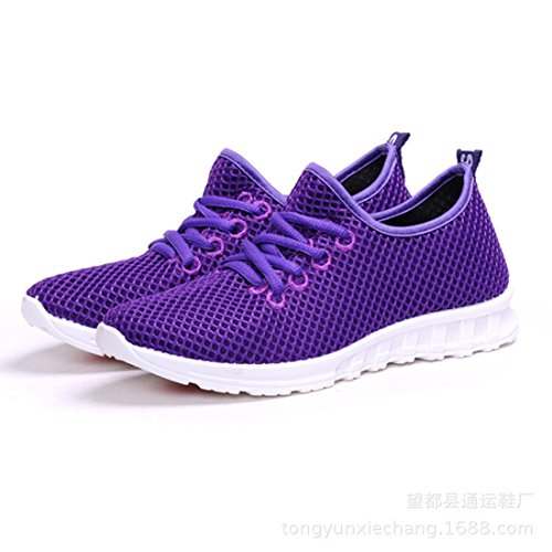 Unisex Breathable Round Toe Sapatos Lace Up Flat Casual Shoes WOMEN 2