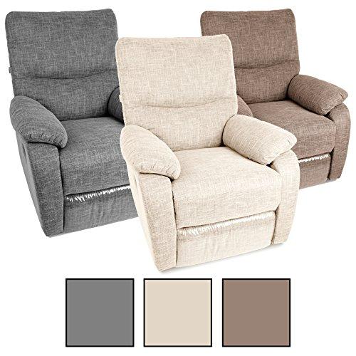 Estexo® Fernsehsessel TV Sessel Verstellbar Relaxsessel Liegesessel Polstersessel Stoff