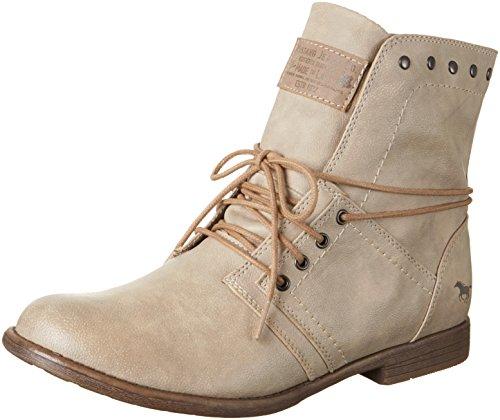 Mustang Damen 1134-602 Kurzschaft Stiefel, Grau (243 Ivory), 37 EU