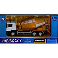 RMZ City Collection - Scania P-Series Orange Cement Mixer - 1:64 Scale Die Cast Model - Collectible Toys…