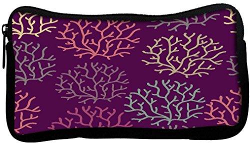 Snoogg Motif transparente avec feuille transparente Texture Peut être utilisé pour papier peint Poly Canvas Student Pen Trousse Porte-monnaie Utility Pouch Sac de maquillage
