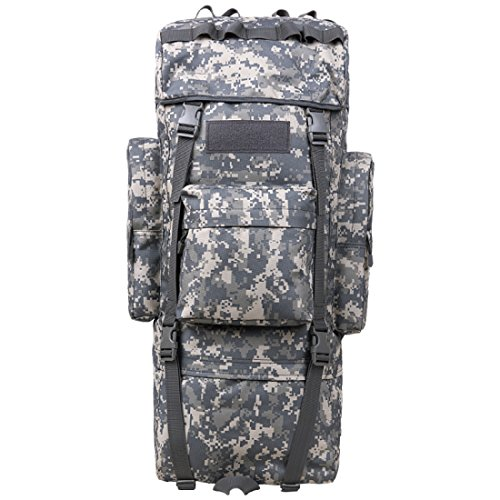 LF&F Backpack Camping outdoor Zaini Borse Zaino da tattica a camuffamento da 110 litri multiuso impermeabile tracolla staccabile alpinismo escursionismo zaino da equitazione A2 110L A8