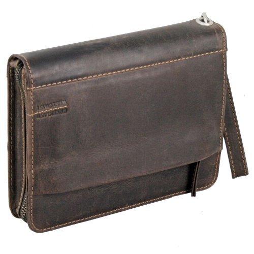 Greenland Westcoast Herrentasche Leder 24 cm (Sattel Herren Brieftaschen)