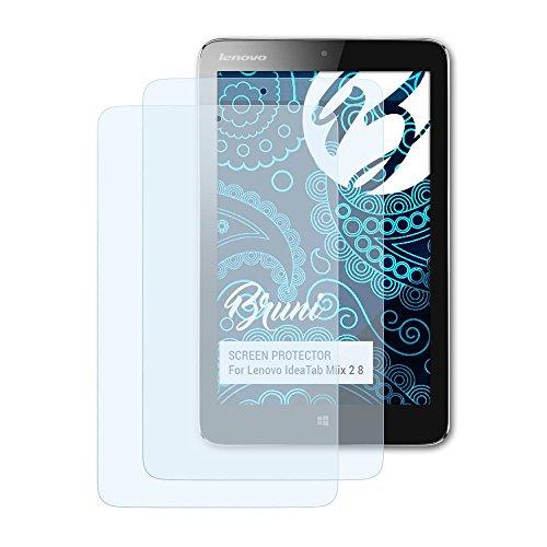 Bruni Schutzfolie für Lenovo IdeaTab Miix 2 8 Folie, glasklare Bildschirmschutzfolie (2X)