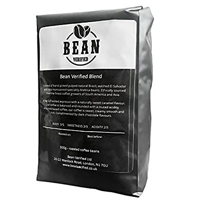 Espresso Coffee Beans - Medium Dark Roast - Arabica - Roasted Whole Bean by Bean Verified