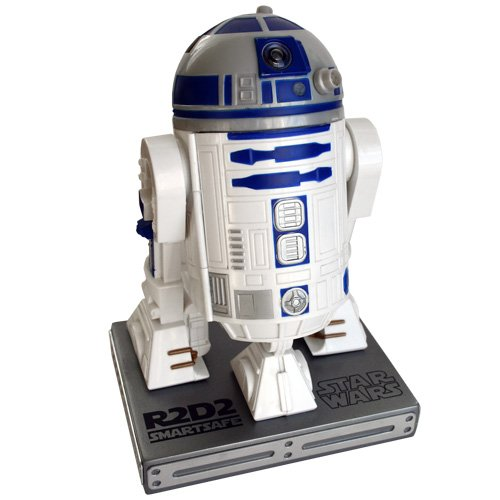 Wiki- Star Wars - Caja fuerte R2-D2 para iPhone o Android, Color blanco/azul (STAR184)