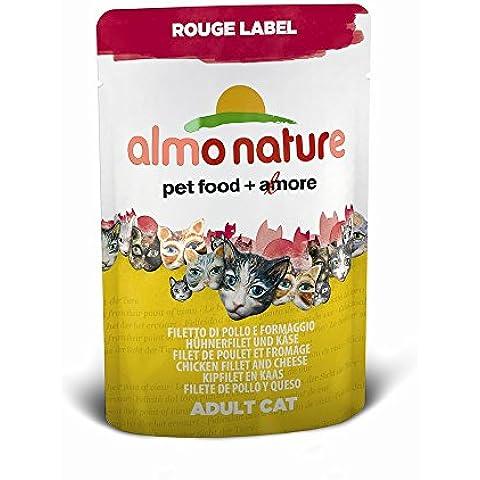 Almo Nature Rouge Label Filetto di Pollo e Formaggio 6 x 55 g