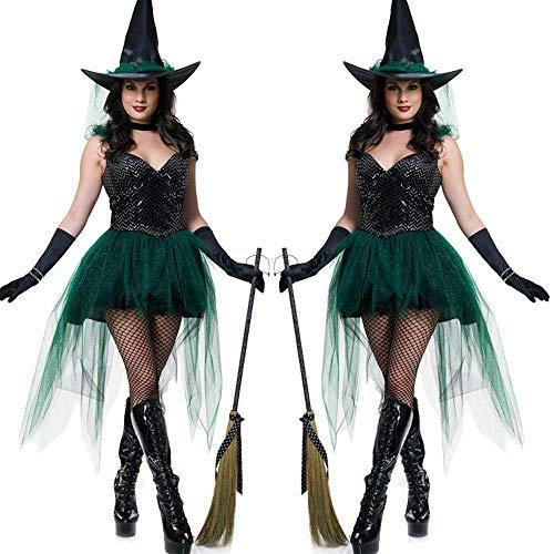 Western Kostüm Halloween - PIN Halloween Kostüme Damen Halloween Kostüm Hexe Uniform Western Festival Spielkostüm,M