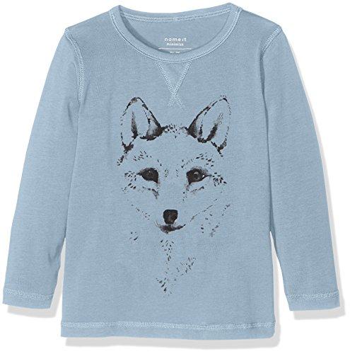 NAME IT Jungen T-Shirt Nitvux LS Top S MZ Ger, Blau (Ashley Blue), 104
