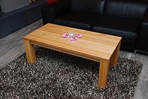 Couchtisch wohnzimmertisch 120x60cm erle echtholz for Wohnzimmertisch echtholz