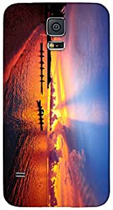 Timpax protective Armor Hard Bumper Back Case Cover. Multicolor printed on 3 Dimensional case with latest & finest graphic design art. Compatible with Samsung Galaxy S-5 / S5 Design No : TDZ-26755