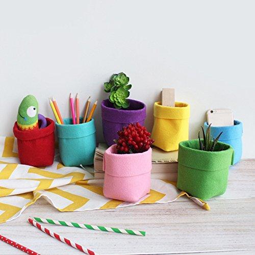 Tutoy Multifuncional Casa Decorativa Fieltro Escritorio Caja De Almacenamiento Niños Juguetes Bolsa De Almacenamiento Oficina-Rojo