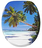 High Quality Printed Toilet Seat | Stable Hinges | Easy to mount | Caribbean
