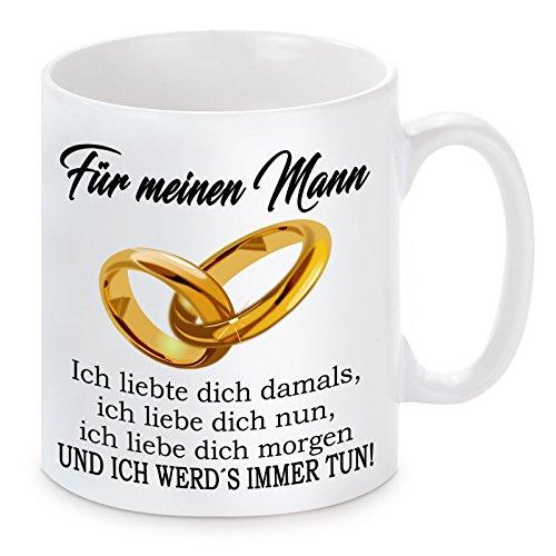 """Lieblingsmensch Tasse Modell """" Ich liebte dich damals... - Mann"""", Keramik, Weiß, 11 x 11 x 11 cm, 1 Einheiten"""