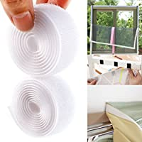 SurePromise One Stop Solution for Sourcing Sticky Back Self Adhesive Hook and Loop Fastener 1-25 Metre Rolls (1m x 25mm, White)