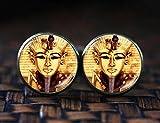 Ägyptischer Pharao Manschettenknöpfe, Pharao Manschettenknöpfe, Alten Ägypten Manschettenknöpfe Manschettenknöpfe, Ägypten, Ägyptische Geschenk, Pharao Art Gift
