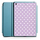Apple iPad Mini 4 Smart Case hellblau Hülle Tasche mit Ständer Smart Cover Punkte Flieder Polka