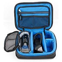 DURAGADGET Bolsa acolchada profesional negra con compartimentos para maquinilla de afeitar / corta pelo Braun Series 1 130s , 1 190s , 3 °CoolTec C2s , 3 300 , 3 3000BT , 3 3010BT , 3 310 , 3 340s-4 , 3 ProSkin 3020s