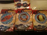 Marvel Superhero Spiderman Pool Set ; Spiderman Surf rider Float, Spidey Spalsh Goggles, Spiderman...