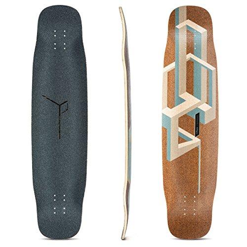 Tesseract Bamboo Longboard Skateboard Deck (Nude) ()