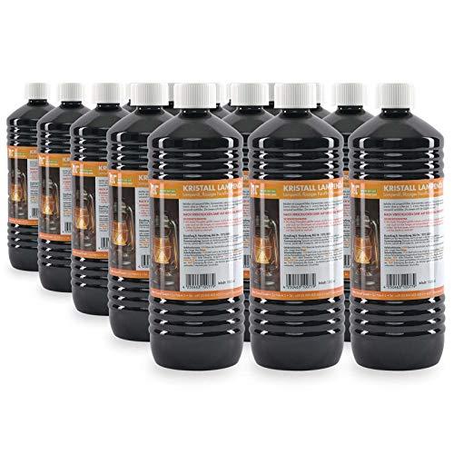 15 x 1 L Kristall Lampenöl hochrein von Höfer Chemie - geeignet für Gartenfackeln, Öllampen und Sturmlaternen - mit Kindersicherheitsverschluß