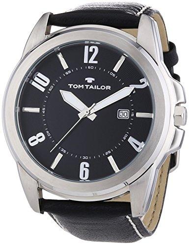Tom Tailor - 5413401 - Montre Homme - Quartz - Analogique - Bracelet Cuir Noir