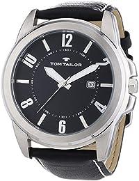 TOM TAILOR Herren-Armbanduhr XL Analog Quarz Leder 5413401