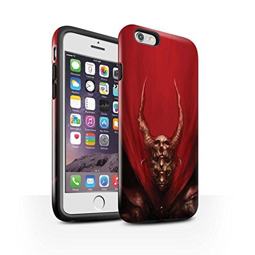 Offiziell Chris Cold Hülle / Glanz Harten Stoßfest Case für Apple iPhone 6S / Pack 10pcs Muster / Dunkle Kunst Dämon Kollektion Rot Herzog