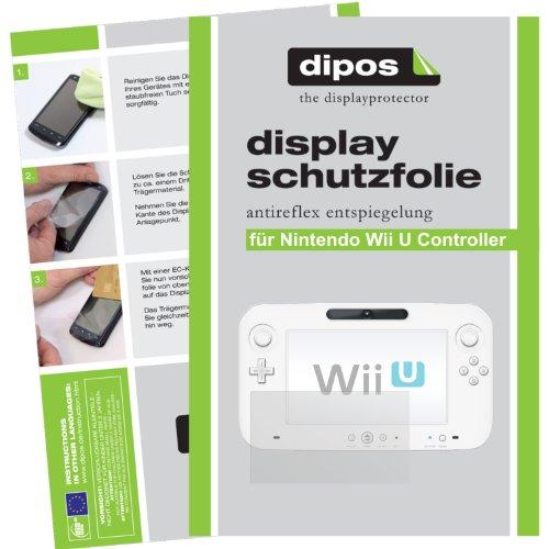 dipos I 2X Schutzfolie matt passend für Nintendo Wii U Controller Folie Displayschutzfolie