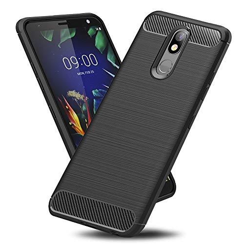 TOPACE Hülle für LG K40, Ultra Dünn Vollständiger Schutz Handyhülle Anti-Fingerabdruck TPU Silikon Slim-Fit Case Schutzhülle für LG K40 (Schwarz)