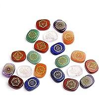 RUNGAO Chakra-Stein, Chakra-Gravur, heilend, kristalline, Kraft Energie, 7 Stück preisvergleich bei billige-tabletten.eu