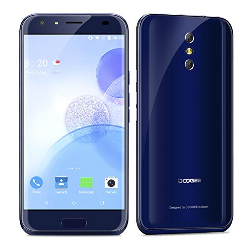 "DOOGEE BL5000 - 4G Smartphone Libre (Android 7.0, 5.5"" FHD Pantalla, Alta Resolución, MT6750T 1.5GHz Octa Core, 4Gb Ram 64GB ROM, Dual Sim, Cámara Trasera Dual 13Mp+13Mp, 5050mAh Batería) (Azul)"