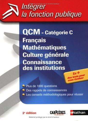 QCM CAT C FRA MATH CG CONN INS