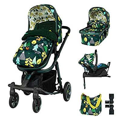 Cosatto Giggle Quad Travel Sytem Into The Wild with Car Seat Base Bag footmuff & Raincover