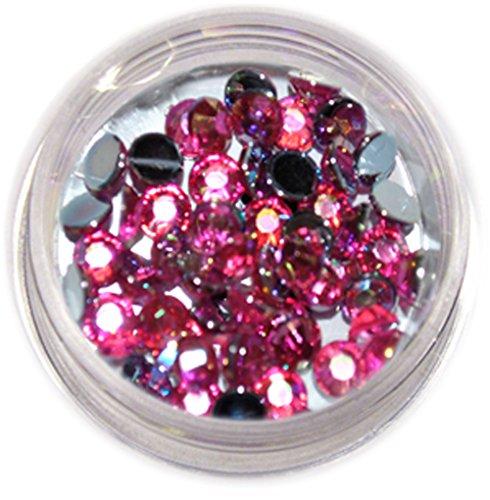 RM Beautynails avec 4 mm rose ronde strass paillettes strass env. 50 pièces pour Nail Art et Manucure Design
