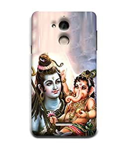 PrintVisa Designer Back Case Cover for Coolpad Note 5 (Ganpati ji playing in shivji lap)