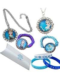 20cf0ab77749 Pulseras de silicona Snow Queen Elsa y la Princesa Anna