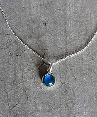 Collier avec mood ring stone - pierre d'humeur