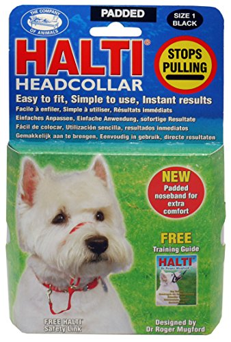Company of Animals Halti Headcollar Padded Black 1